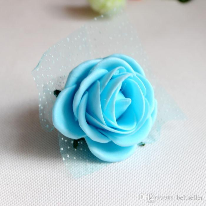 White Wedding Theme Artificial Bridal Bridesmaids Handmade Flowers Wrist Corsage wedding Bouquets Available
