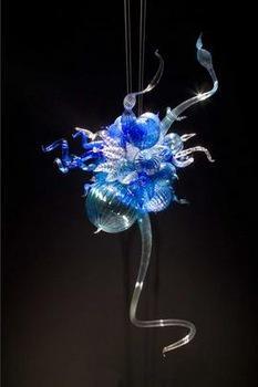 100% выдутый рот CE UL боросиликатное муранское стекло Дейл Chihuly Art Fine Декоративная светодиодная лампа Люстра