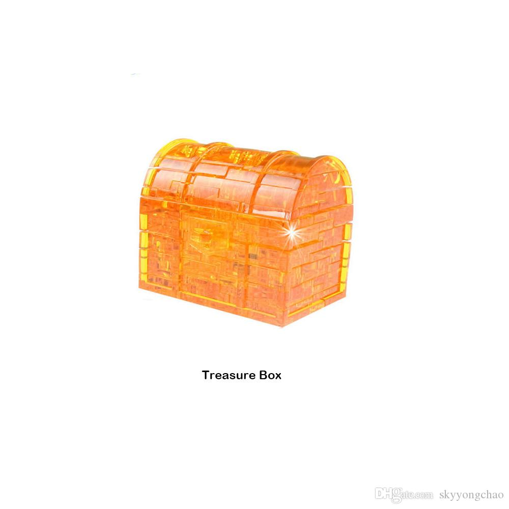재미 있은 상자 크리스탈 퍼즐 조립 된 모델 3D 장난감 아이 선물
