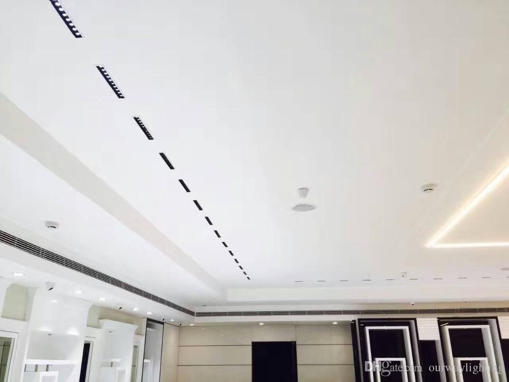 Luminaire encastré au plafond linéaire pour innovation, 2WX10 2WX15 Points lumineux Downlight à petit angle de faisceau Effectue un cercle de lumière uniforme