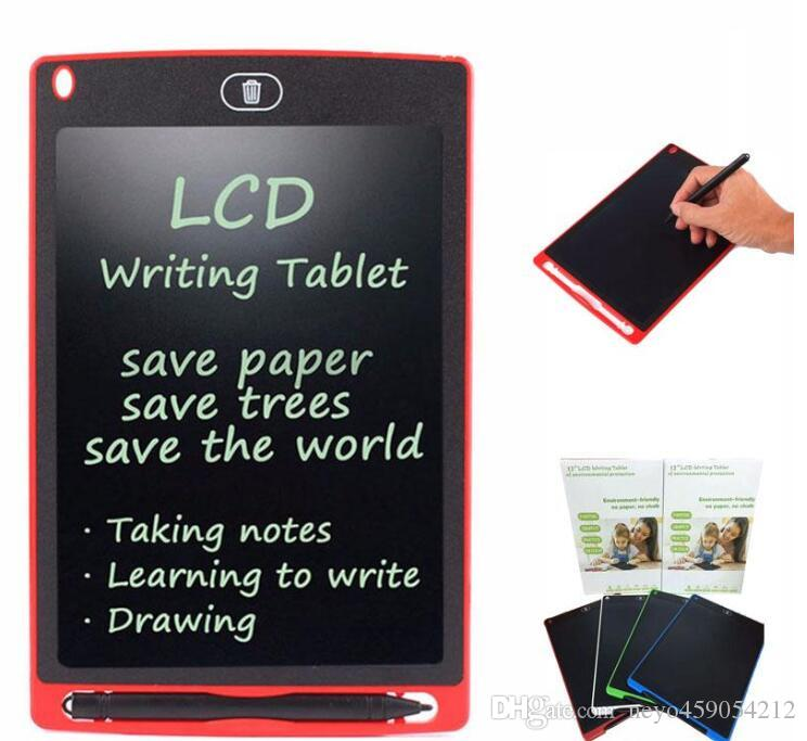 LED 8.5 inch LCD Writing Tablet Drawing Board Blackboard Handwriting Pads Gift for Kids Paperless Notepad Whiteboard Memo With Upgraded Pen