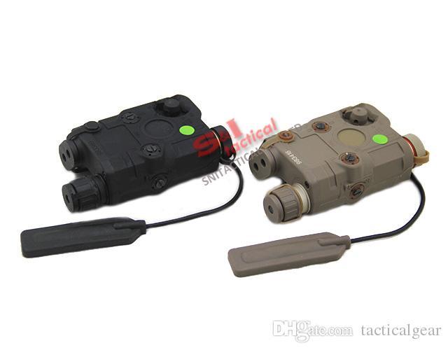 흰색 LED가있는 전술 A / PEQ-15 녹색 레이저 야외 검정 / 어두운 지구를 사냥을위한 손전등 토치 적외선 IRLIncitor