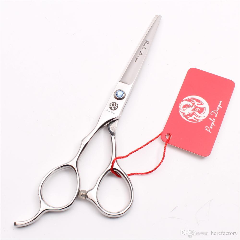 "Z8000 6"" Japan 440C Purple Dragon Blue Stone Professional Human Hair Scissors Barbers' Cutting Thinning Shears Left Hand Scissors Style Tool"