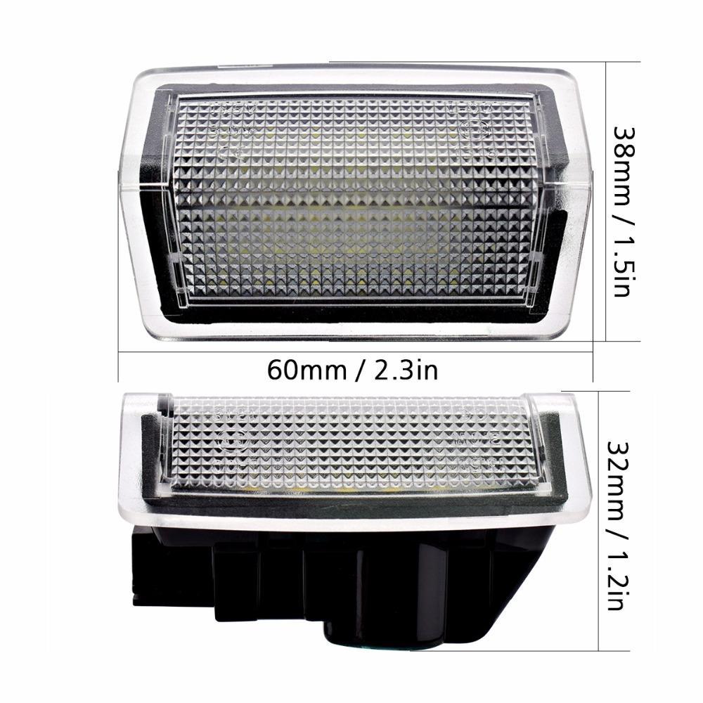 LED étape porte courtoisie lumière d'accueil lampe pour benz A B C E M ML GL classe W212 W166 W176 W204 W167
