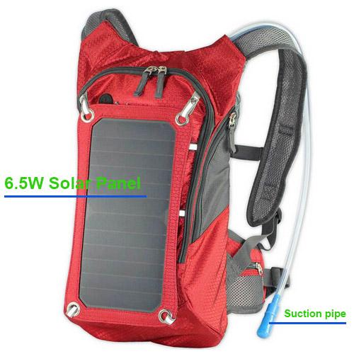 2015 Hot Solar Outdoor Backpack Water Bag 7w Solar Panel