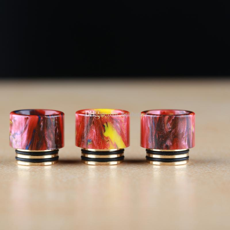 Smok TFV8 Epoxy Resin Drip Tip Gold Plated SS Part Hot E-cigarette Accessories Drip Tips for Smok Ecig Atomizers Epacket Free