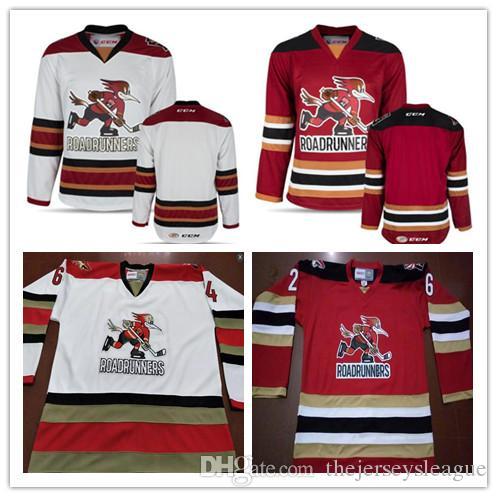 Tucson Roadrunners Mens Custom College Stitched Hockey Jerseys  2 ... 3496de2731e