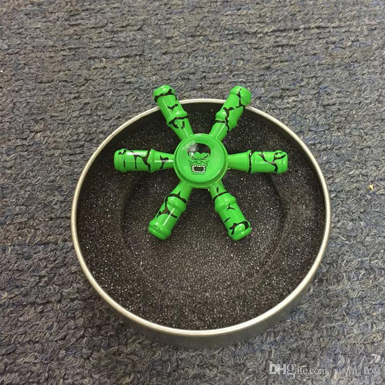 Sıcak Satış Avengers Fidget Spinner Demir Adam HandSpinner Süper kahraman Kaptan Amerika Parmak Gyro Parmak EDC Hulk El Spinners