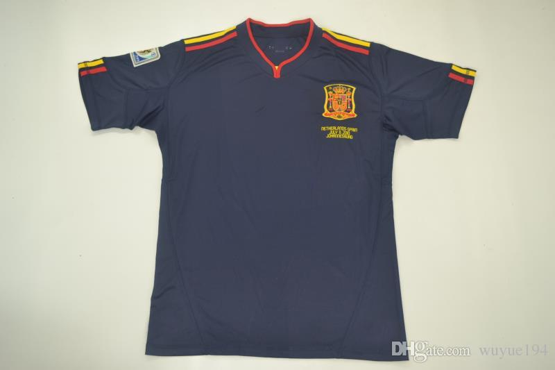 2010 World Cup Final Match Neitherlands Vs Spian España Away Black ... fb218c8e8