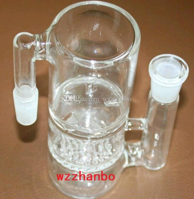 Hot 14.5MM-14.5MM Glass Honeycomb And Whirlpool Percolator Ash Catcher Smoking Glass Pipe Bong Accessories PA014