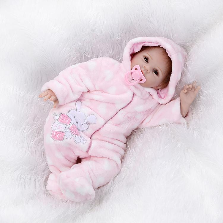 Reborn Baby Doll Soft Silicone 22inch 55cm Magnetic Mouth ...