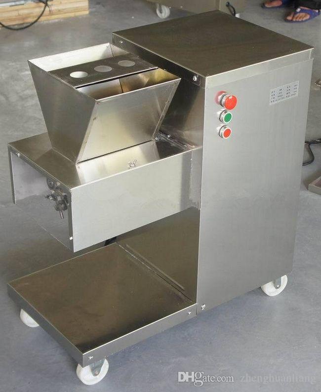 Großhandel - Freies Verschiffen 110/220V QW Fleischschneidemaschine, Fleischschneider, Fleischschneider, 800kg / HR Fleischverarbeitungsmaschine
