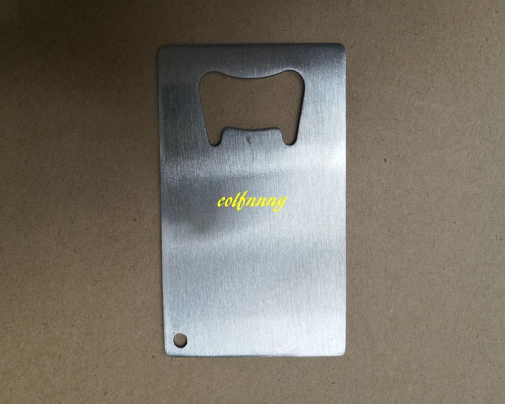 / 로고를 사용자 정의 할 수 있습니다 스테인레스 스틸 신용 카드 병 오프너 지갑 크기 명함 맥주 오프너