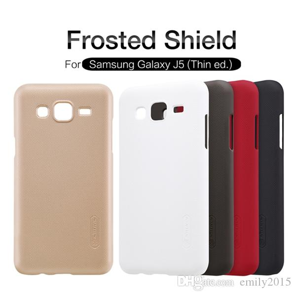 100% original NILLKIN Super Frosted Shield case for Samsung Galaxy J5,J5 Thin ed. with free screen protector+Retail package