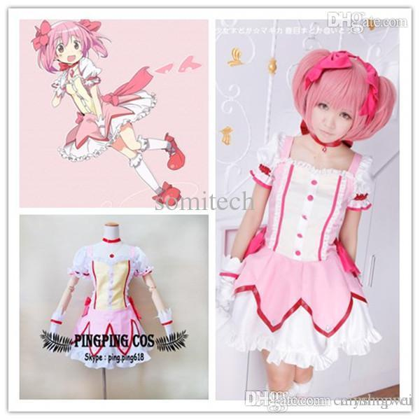 Wholesale Madoka Magica Cosplay Kaname Madoka Cosplay Costume Lolita Dress  Suit Anime Cosplay Any Size. Anime Costume Cheap Cosplay From Caimingwei 07aef9d45