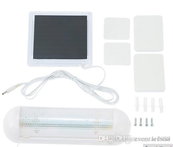 White Indoor Solar Powered Panel Outdoor Garden 5 LED Solar Light Yard Wall Lamp Shed Flood Security Light Waterproof IP55