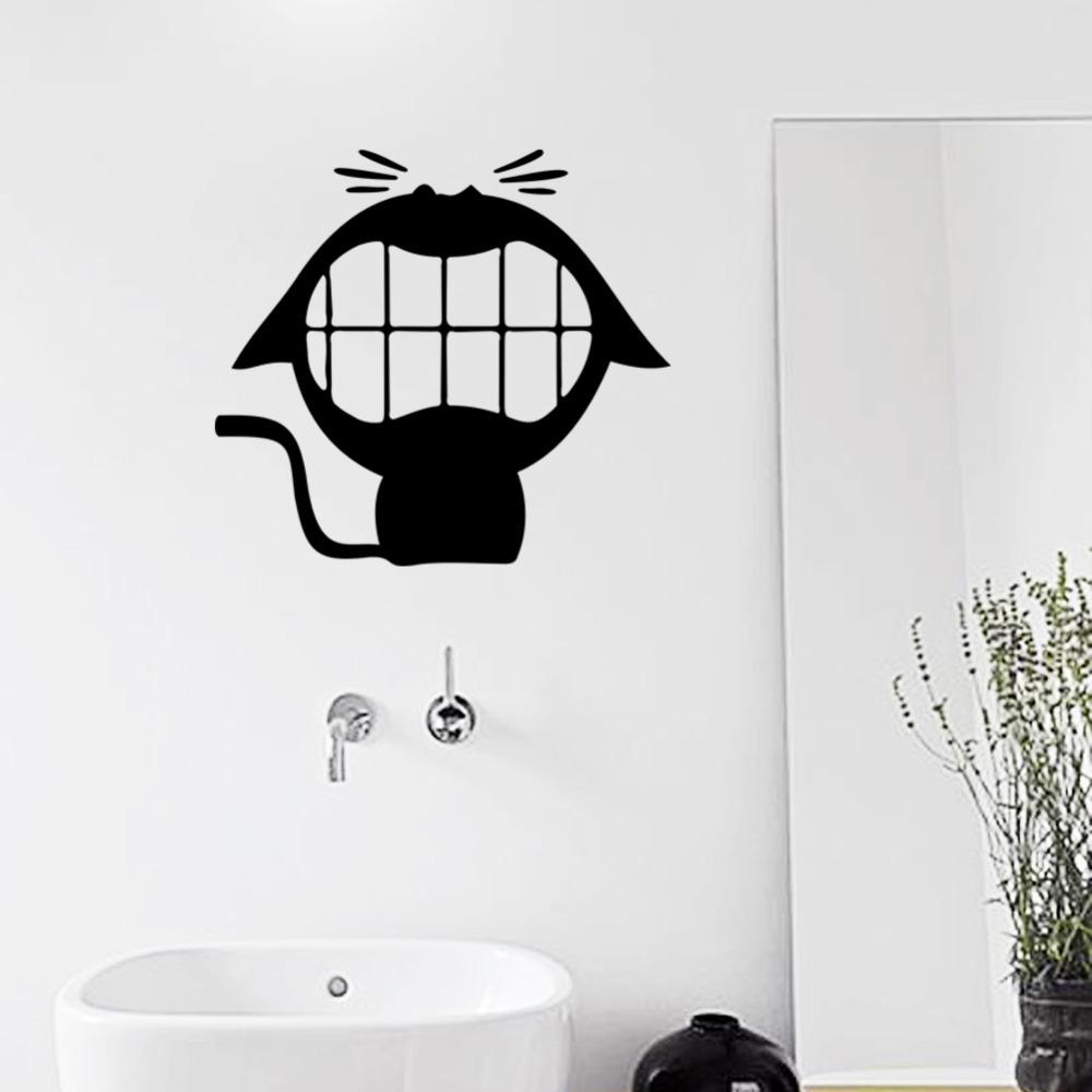 100 black and white wall stickers family tree wall decal black and white wall stickers laughing cute cat vinyl wall stickers for bathroom small stuffs