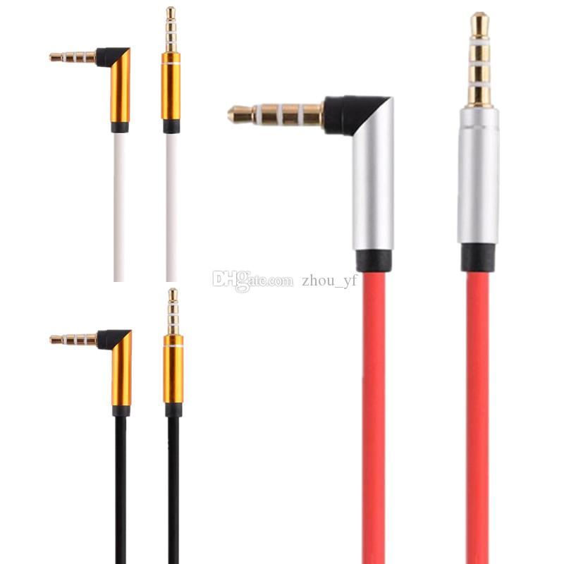 3,5 milímetros de substituição de áudio cabo para auscultadores do estúdio regular normal extensão de áudio AUX macho para macho normal para SOLO MIXR Headsets