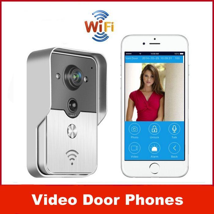 Hot Wireless Wifi Doorbell Camera IP Video Door Phone Intercom Kit Support  Wireless Unlock Android IOS APPdepartments Or Villas Door Intercoms With  Cameras ...