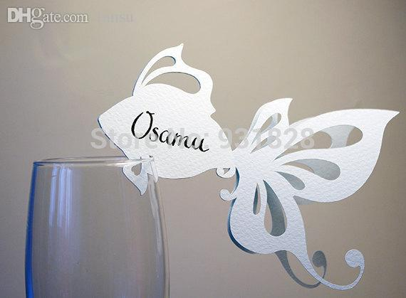 2019 Wholesale Cheap Place Cards Sea Themed Wedding Wine