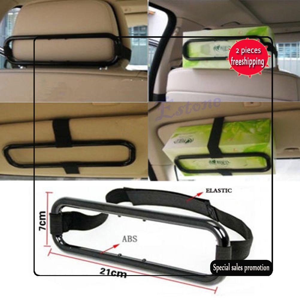 Universal Car Sun Visor Tissue Paper Box Holder Auto Seat Back Accessories Clip Bracket