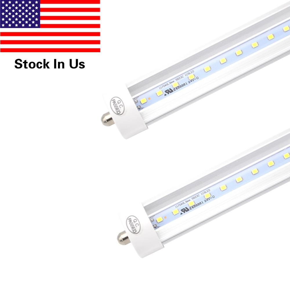 Single Pin Fa8 Base 8ft Led Light Tube Work Without Ballast Clear Wiring Diagram For Fluorescent Lighting Cover 45wshop Lights T8 Dual Ended Powercold White 6000k Bulbs