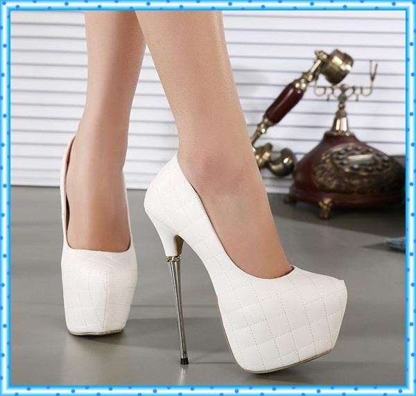 Womens High Heels Shoes 2015 White Pumps Women Party Shoes ...