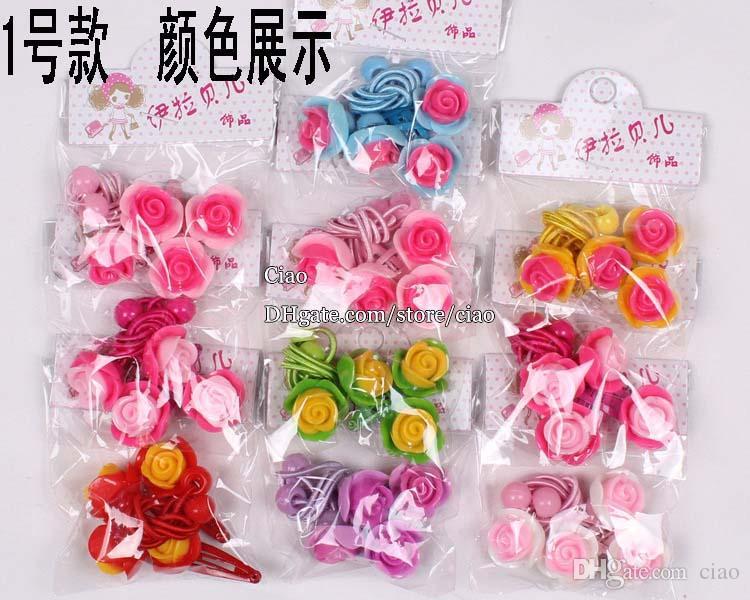 Ragazze Barrettes dei capelli dei bambini accessori Coreano Fiore clip clip del bambino del legame dei capelli della ragazza dei capelli C1754
