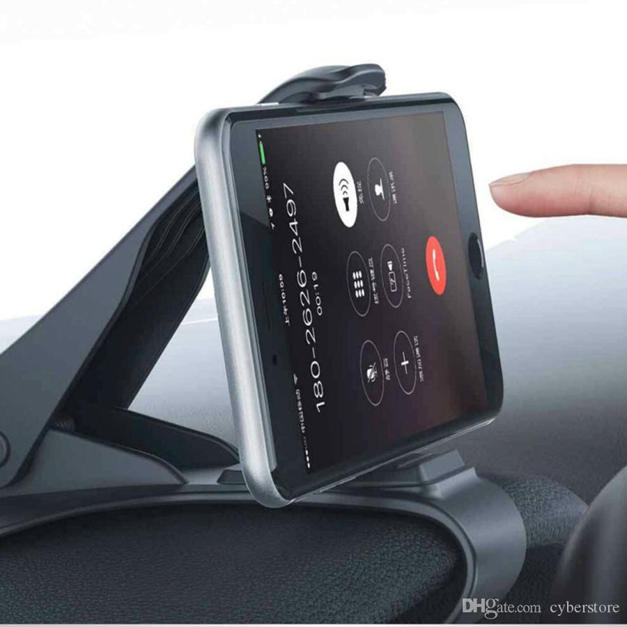 Universal HUD Simulating Design Car Supporto auto Car Cradle Regolabile Regolabile Dashboard Mount Guida sicura iPhone Samsung note10