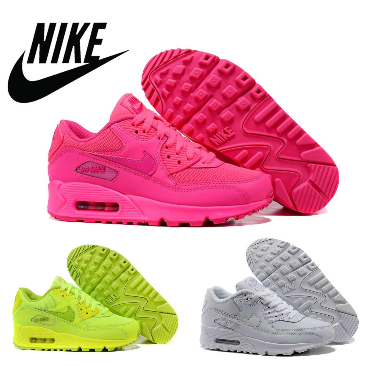 f8e548e4ff1c Nike Air Max 90 GS Hyper Pink Vivid Pink Men Women Runing Shoes ...