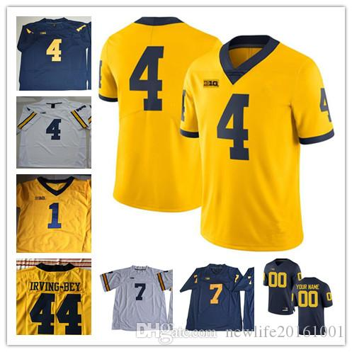 2019 Custom Michigan Wolverines College Football Jersey 7 Tarik Black 17 Tyrone  Wheatley 32 Ty Isaac 44 Deron Irving Bey New Gold Navy Blue White From ... 799fb5a9b