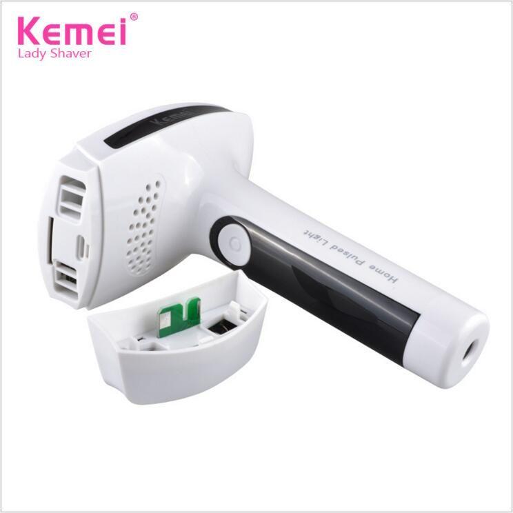 Dispositivo de depilación fotónica KEMEI KM-6812 Depiladora con láser Reducción permanente del vello para eliminar el vello corporal completo Enchufe de la UE DHL Envío gratis