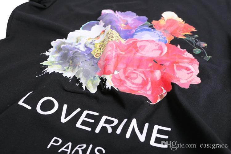 여성 의류 유럽과 미국 핫 스타일 면화 꽃 pyrograph S093 라운드 칼라 짧은 소매 womens 티셔츠