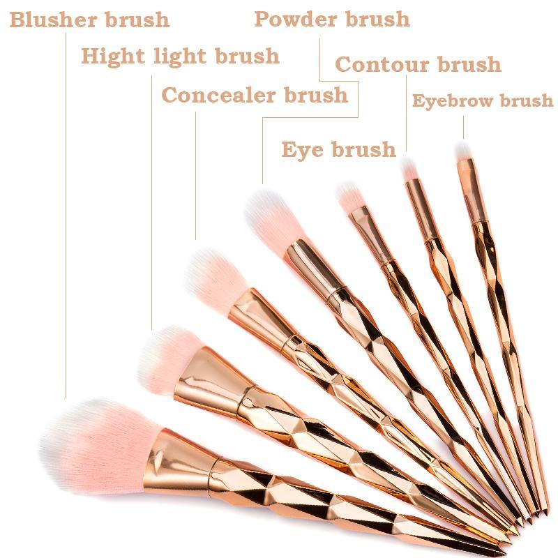 4081225c344 Elailite Soft Unicorn Diamond Makeup Brushes Set Powder Foundation Make Up  Brushes Tool Gold Rose Anycolors Discount Cosmetics Foundation Brushes From  ...