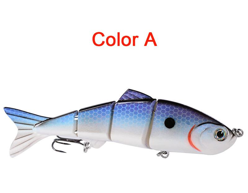 4 Segments Artificial VIB Lures 12cm/17g lifelike Painted Fly fishing bass bait Swimming Depth 1.2-3.6m