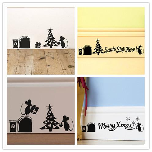 New Cute Cartoon Mouse Home Sticker Wall Decor Mouse Hole Children ...