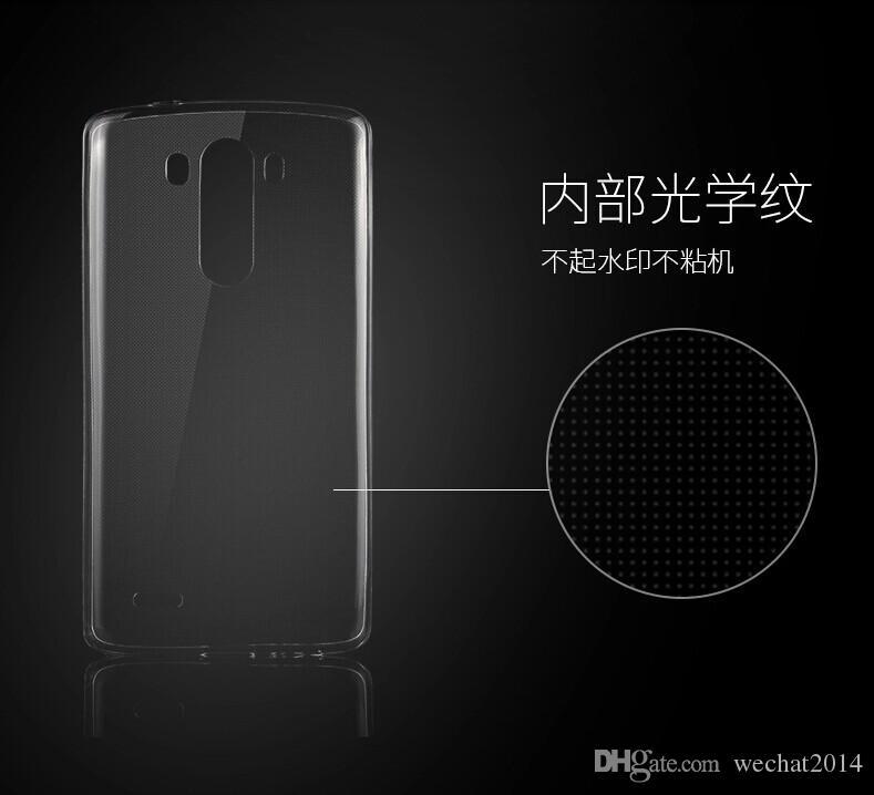 Gel trasparente TPU Crystal Clear Ultra sottile 0,3 mm Trasparente Custodia morbida cover posteriore LG G2 G3 G4 G5 V10 K10 K7 G Flex Stylus 2