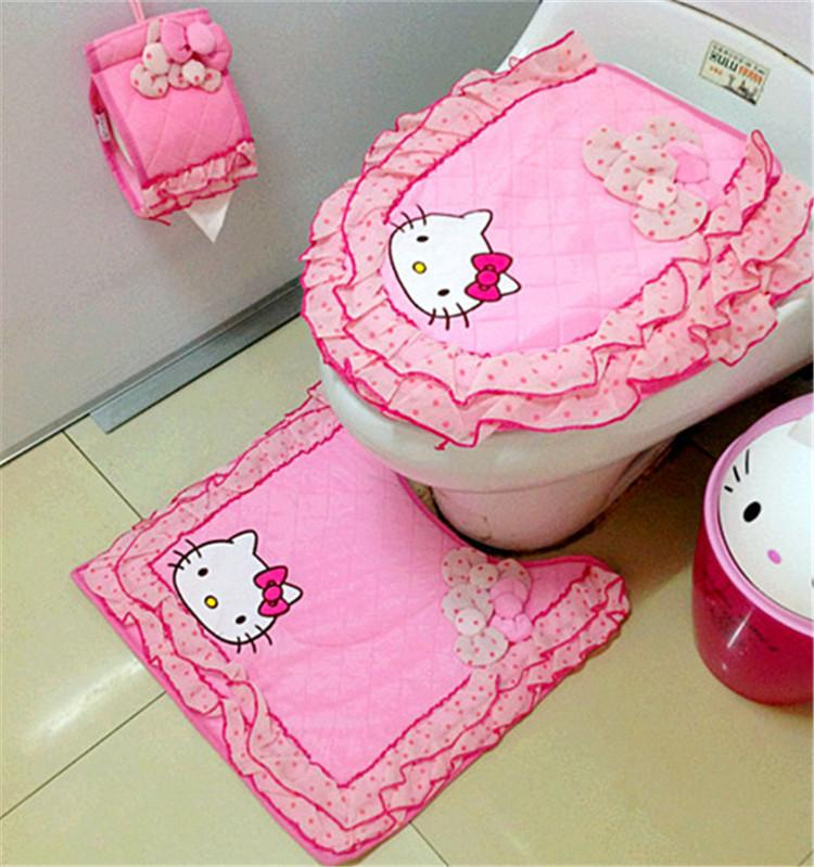Online Cheap Tapetes Toilet Seat Cover Mat Bathroom Set Home