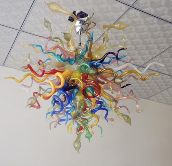 100 % 입 풍선 CE UL 붕규산 무라노 유리 데일 치 훌리 Dale Chihuly 예술 높은 품질 현대 크리스탈 천장 램프