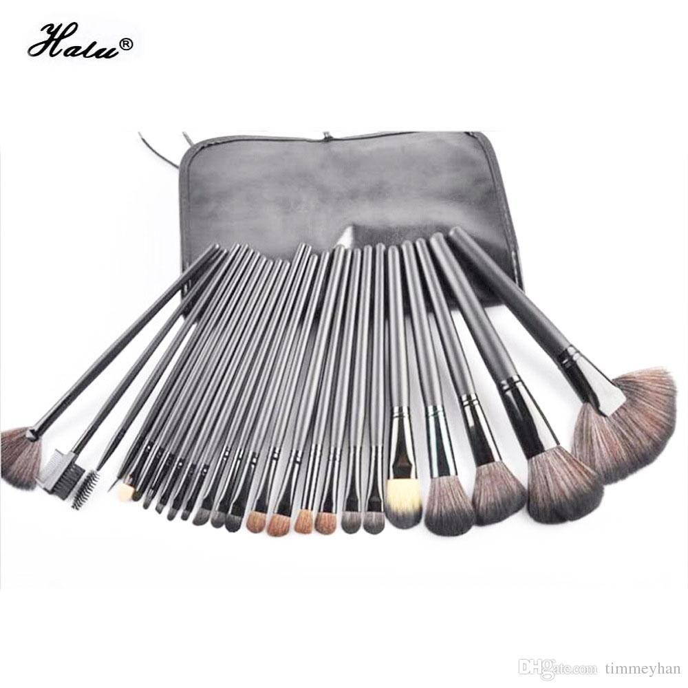Halu premiuim pinceau de maquillage professionnel Set souple en nylon cheveux en bois Artiste Make Up Brush Kit Eye blush set