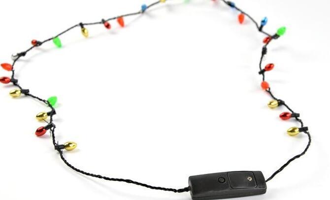 Led Kolye Kolyeler Yanıp sönen Boncuklu Işık Oyuncak Noel hediyesi DHL ve Fedex kargo bedava aydınlatma Toptan 8 farları