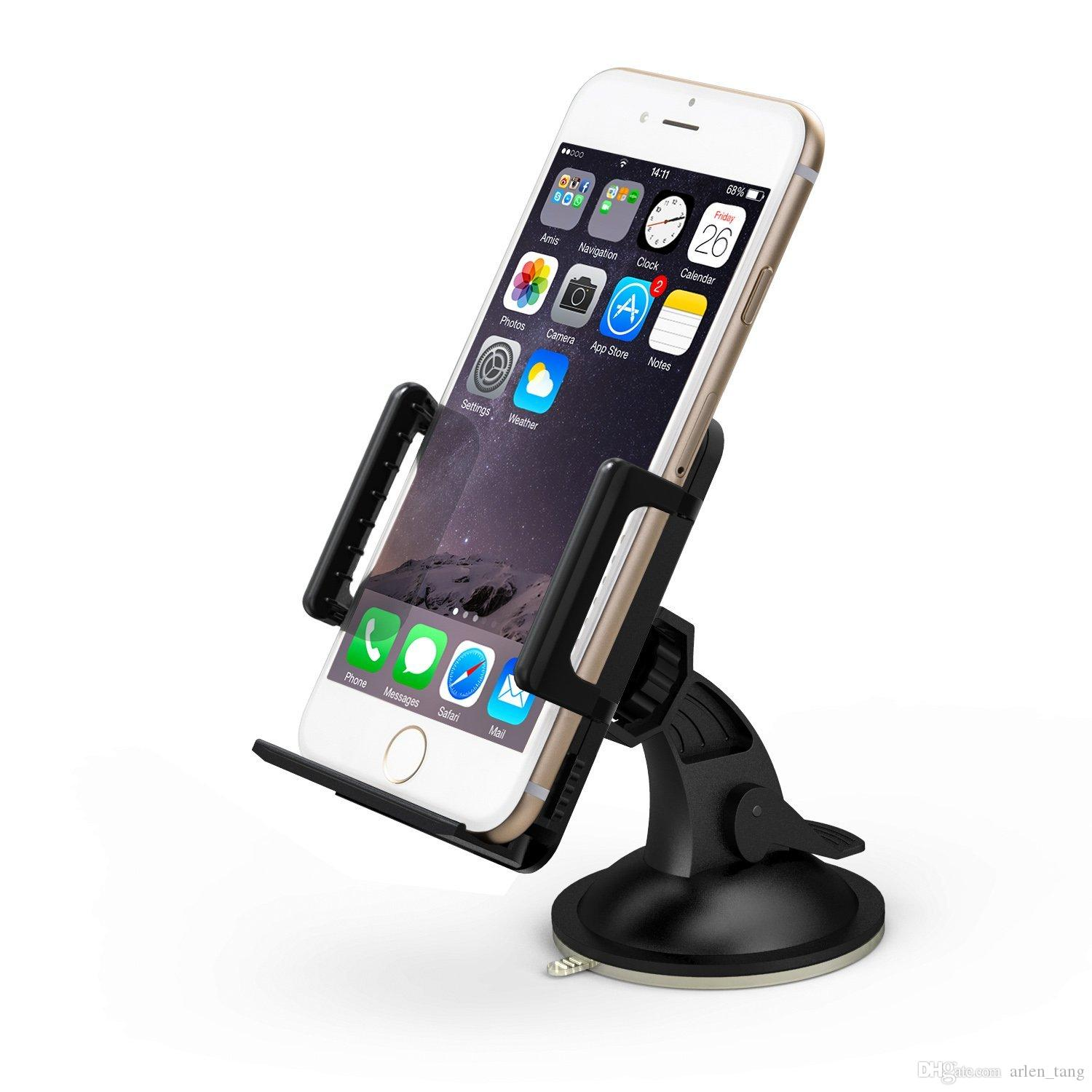 Cool universal windshield dashboard car mount cradle holder for iphone 6 5s 5c 5 4s 4 3gs samsung galaxy note 3 note 2 s4 s3 mega lumia spigen cell phone
