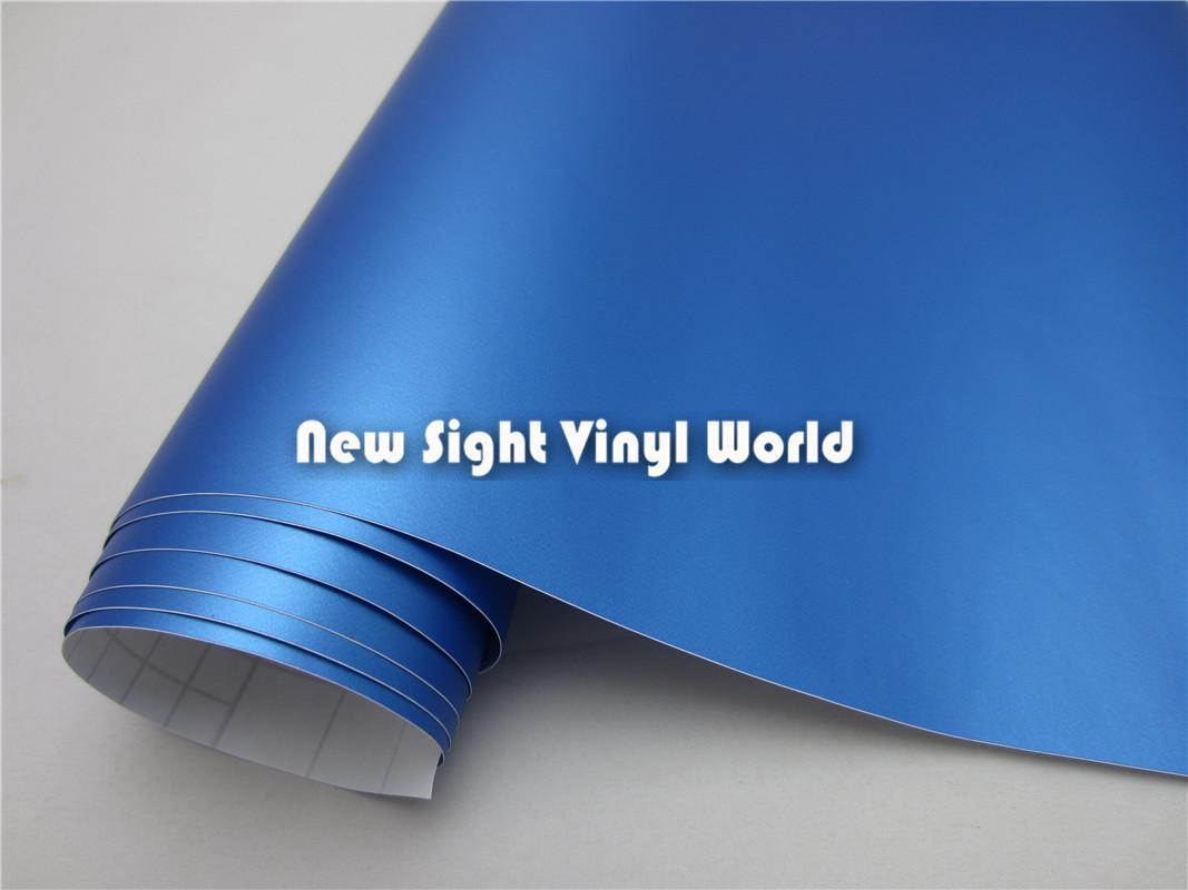 Hoge kwaliteit matte parel blauw vinyl filmrol auto wrap luchtkanalen voor auto stickers Grootte: 1,52 * 30m / roll