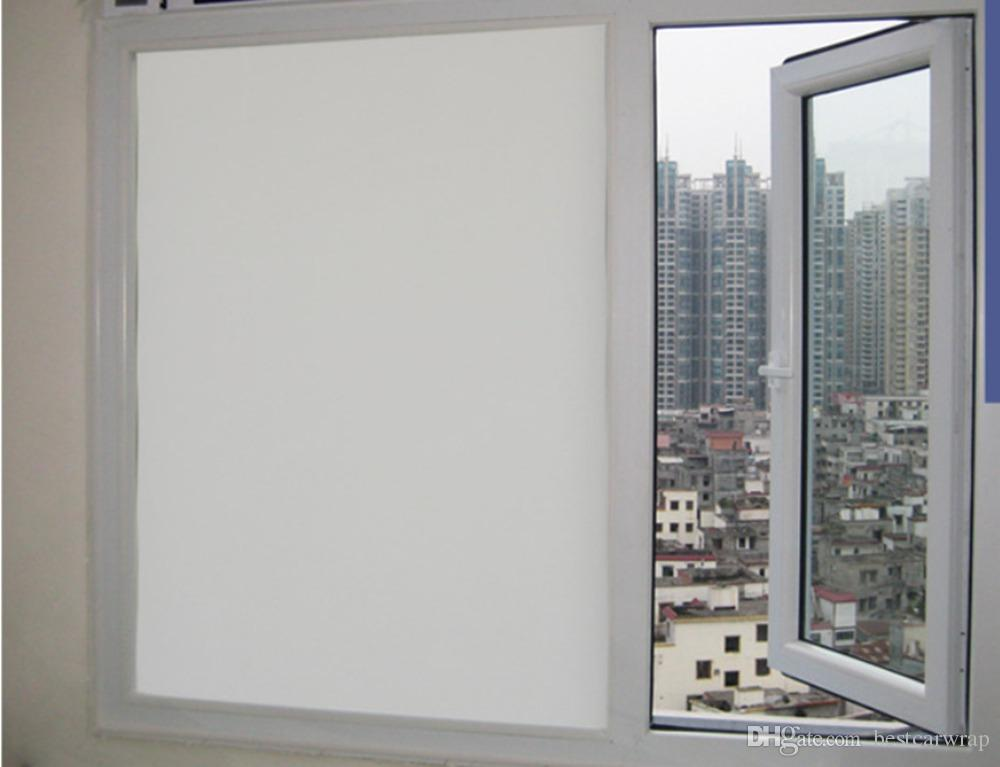 0% VLT White Privacy Window Film Stickers Residential Glass Tint Decal Vinyl Tinting Self adhesive SIZE 1.52x30m=5x98ft
