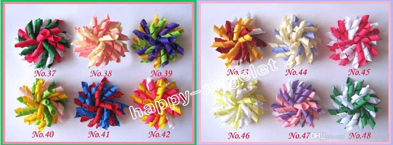 2.5 Zoll Baby Romantische Blumen corker HaarBarrettes Bögen Lockenwickler korker Band Haarspange Haar bobbles Haarschmuck Kinder PD007