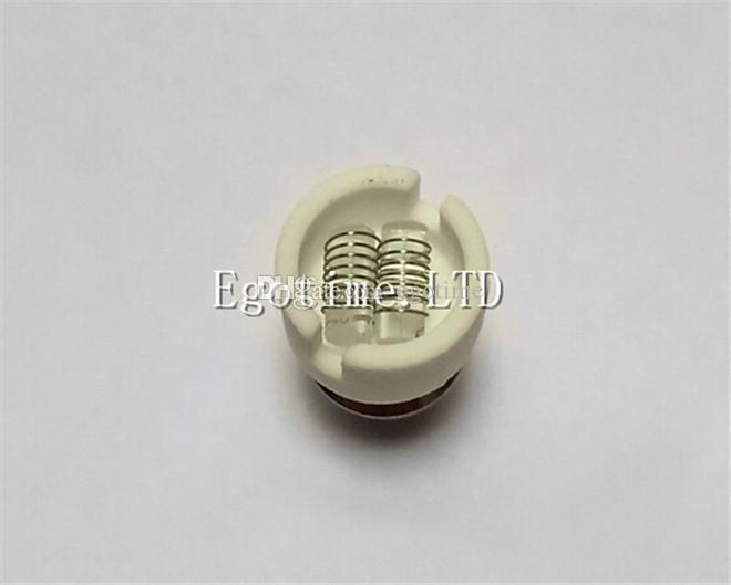 HOT!!! Dual Quartz wax dry herb coil Quartz Coil for Globe glass globe atomizer herb Glass Atomizer Ecigs VS Skillet D CORE cannon vase tank