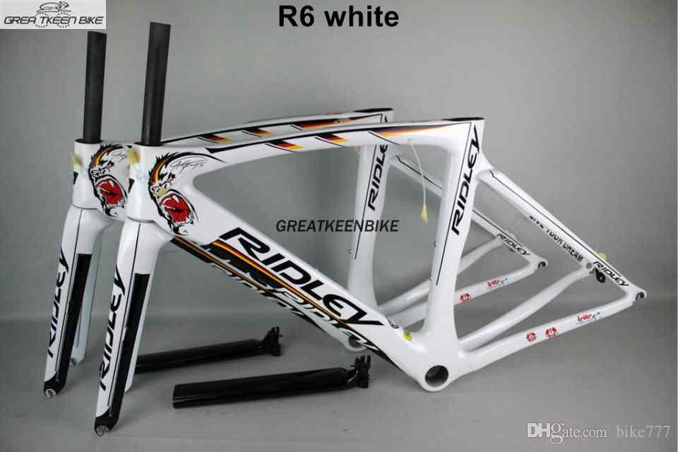 2016 Ridley Carbon Road Bike Frame R6 White Color Pf30 Glossy
