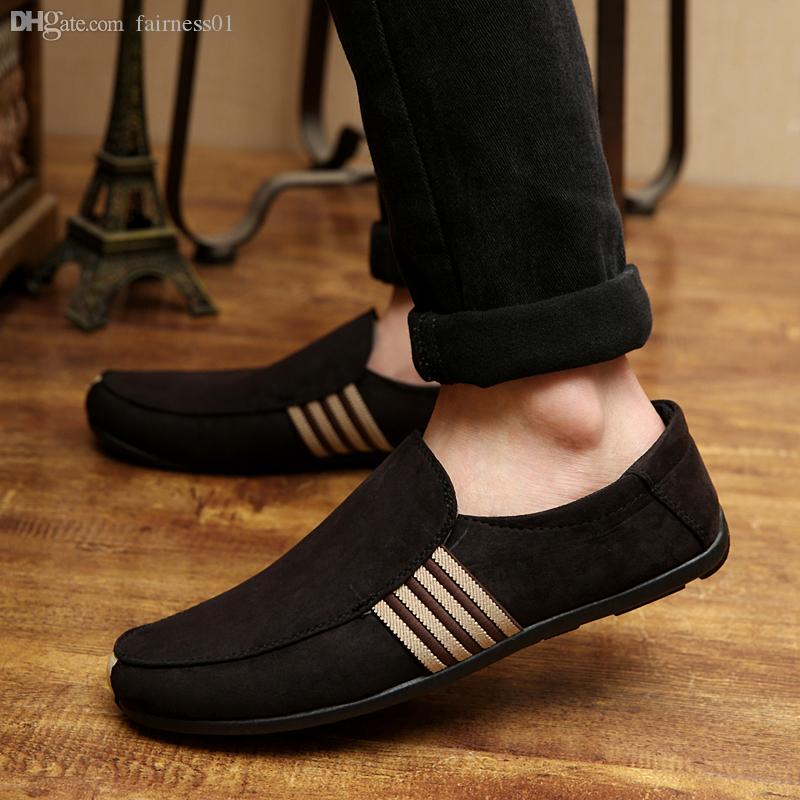 Wholesale Men Loafer Shoes Trendy Suede Leather Slip On