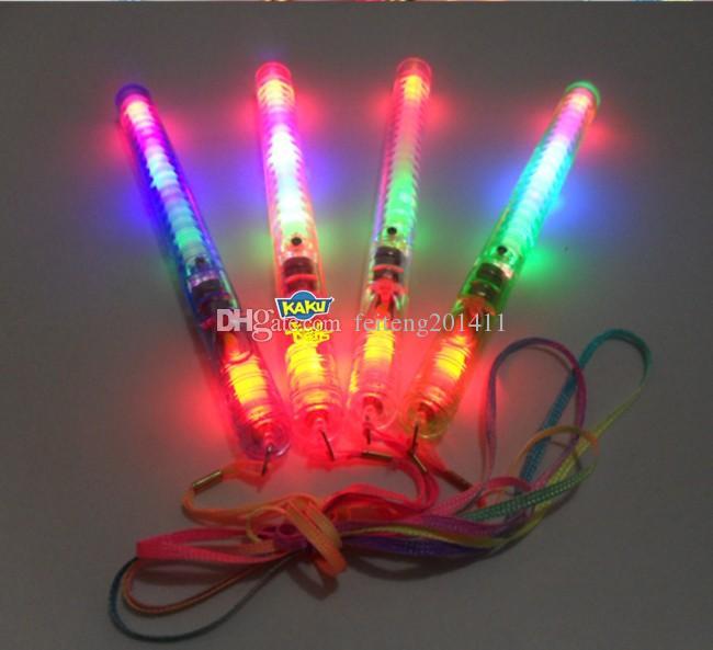 sorts 4 Couleur LED Clignotant Glow Baguette Lumière Sticks, LED Clignotant lumière baguette nouveauté jouet