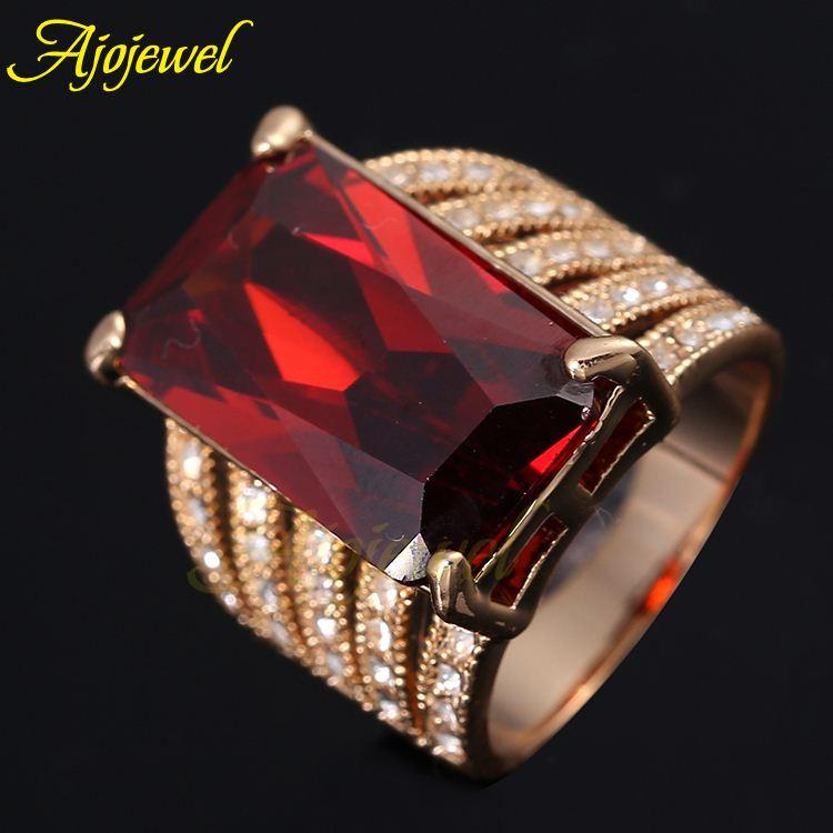 FG 2014 Trendy Fashion Single Stone Jewelry Rose Gold Plated Big ...